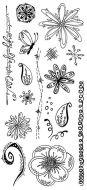 CS235D Hobby Art Stamps - Journal Scribble