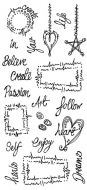 CS236D Hobby Art Stamps - Journal Words