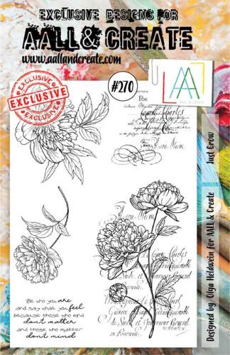 No. 270 Just Grow Aall and Create A5 Stamp