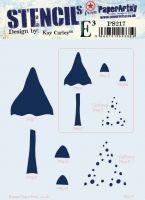 Kay Carley Regular PaperArtsy Stencil (PS217)