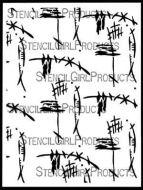 Kyoto Stencil (L758) designed by Nathalie Kalbach for StencilGirl 9 inch by 12 inch