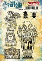 PaperArtsy -  Lynne Perrella - LPC038 A5 Cling Rubber Stamp Set