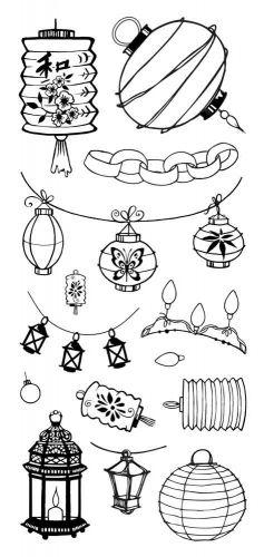Lights and Lanterns DL Hobby Art Stamp Set (CS093D)