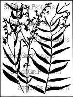 Longwood Florals Stencil designed by Cecilia Swatton for Stencil Girl (9 inch by 12 inch)