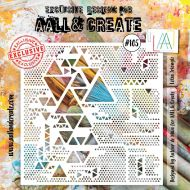Lotza Trianglz Aall and Create 6 by 6 Stencil Autour De Mwa 105 (AAL10105)