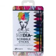 Dina Wakley Media Scribble Sticks Set 2 (12 Pack)