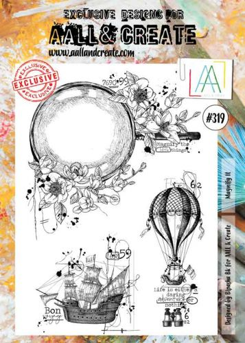 No. 319 Magnify It Aall and Create A4 Stamp