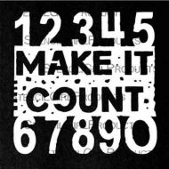Make It Count Mini 4 inch by 4 inch Stencil (M137) by Seth Apter for StencilGirl