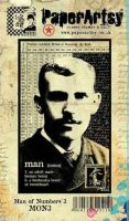 Man of Numbers Plate 3 (MON3EZ) PaperArtsy Collections Vintage Stamps