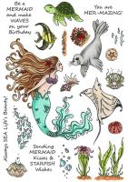 CS225D Hobby Art Stamps - Mermaids