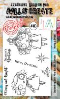 Merry and Bright No. 413 Aall and Create A6 sized stamp by Janet Klein (AAL00413)
