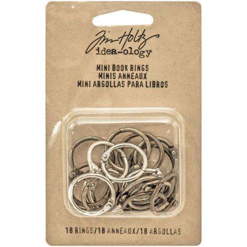 "Idea-Ology Metal Mini Book Rings .75"" 18/Pkg (TH93272)"