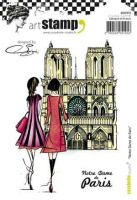 Notre Dame de Paris by Soizic - Carabelle Studio a6 cling rubber stamp (SA60335)