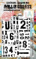 Numerator No. 400 Aall and Create A6 sized stamp by Tracy Evans (AAL00400)