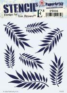Lin Brown PaperArtsy Stencil 06