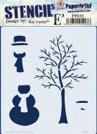 Kay Carley PS161 PaperArtsy regular stencil