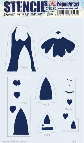 Kay Carley Large PaperArtsy Stencil (PS181)
