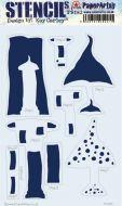 Kay Carley Large PaperArtsy Stencil (PS183)