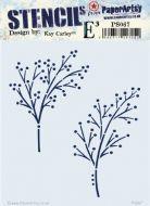 PaperArtsy Kay Carley Stencil PS067