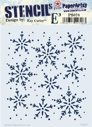 PaperArtsy Kay Carley Stencil PS070