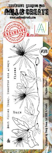 No. 278 Passion Flower Aall and Create Border Stamp