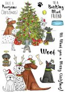 CS230D Hobby Art Stamps - Pawsome Christmas