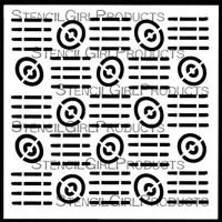 Retro Grid Stencil (S799) designed by Andrew Borloz for StencilGirl (6 inch by 6 inch)