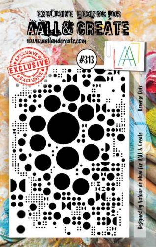 No. 313 Reverse Dotz Aall and Create A7 Stamp