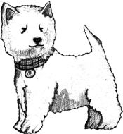 Crafty Stamps - Westie - SC170F