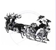 Santa Claus Sleigh Art Stamps Imagination Crafts