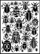 Scarab Beetles Stencil (L559) designed by Margaret Peot for StencilGirl 9 inch by 12 inch