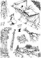 Scene it Donkey A5 Hobby Art Stamp Set (CS265D)
