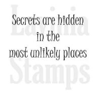 Secrets are hidden Lavinia Stamps (LAV346)