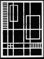Segments Stencil designed by Michelle Ward for Stencil Girl (9 inch by 12 inch)