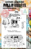 Sewing Forever (No. 396) A5 sized stamp by Tracy Evans for Aall and Create (AAL00396)
