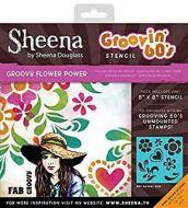 Sheena Douglass - Groovin' 60's - Groovy Flower Power Stencil