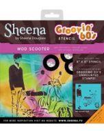 Sheena Douglass - Groovin' 60's - MOD Scooter Stencil
