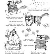 Snarky Cat Christmas (1 max per customer) Tim Holtz Stampers Anonymous Stamp Set (CMS416)