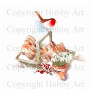 Snowdrop Robin Stamps Hobby Art