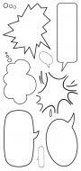 CS149D Hobby Art Stamps - Speech Bubbles