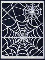 Spider Web Stencil designed by June Pfaff Daley for Stencil Girl (9 inch by 12 inch)