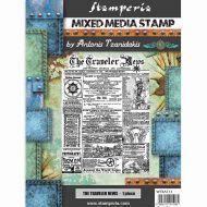 Stamp 15 x 20 cm Sir Vagabond The traveler news Stamperia (WTKAT13)