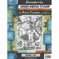 Stamp 15 x 20 cm Sir Vagabond mechanism Stamperia (WTKAT14)