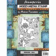 Stamp 15 x 20 cm Sir Vagabond vintage map Stamperia (WTKAT15)