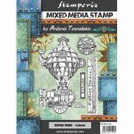 Stamp 15 x 20 cm Sir Vagabond vintage travel Stamperia (WTKAT16)