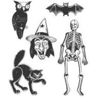 Stampers Anonymous - Tim Holtz Cling Mounted Stamps - Retro Halloween