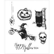 Stampers Anonymous - Tim Holtz Cling Mounted Stamps - Carved Halloween