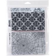 Stampers Anonymous - Tim Holtz Cling Mounted Stamps - Skulls and Cobwebs