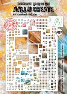 No. 109 Superbly Square Stencil (A4) by Autour De Mwa for Aall and Create
