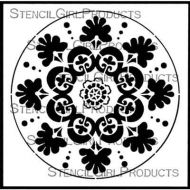 Suzani Circle Medallion (S847) by Gwen Lafleur for StencilGirl
